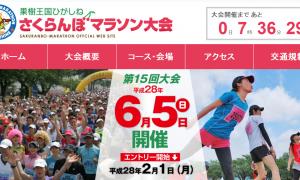 さくらんぼマラソン2016の結果速報・コースなど
